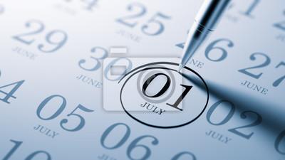 1.července napsané na kalendáři vám připomene důležité jmenovat