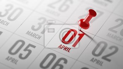 1.dubna napsané na kalendáři vám připomene významnou appoin