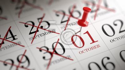 1.října napsané na kalendáři vám připomene významnou appo