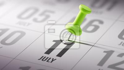 11.července napsané na kalendáři vám připomene důležité jmenovat