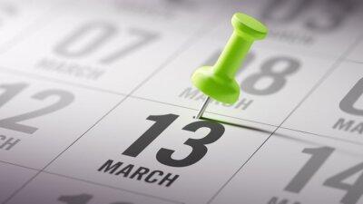13.března napsané na kalendáři vám připomene významnou appoin
