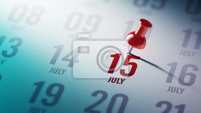 15.července napsané na kalendáři vám připomene důležité jmenovat