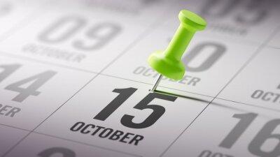 15 napsané na kalendář října, aby vám připomenout důležitou appo