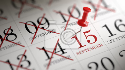 15.září napsané na kalendáři vám připomene významnou ap