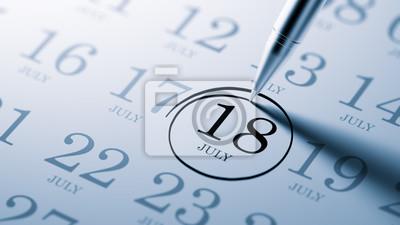 18.července napsané na kalendáři vám připomene důležité jmenovat