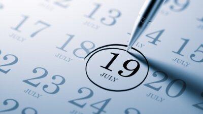 19.července napsané na kalendáři vám připomene důležité jmenovat