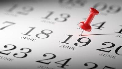 19.června napsané na kalendáři vám připomene důležité jmenovat
