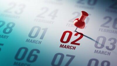 2.března napsané na kalendáři vám připomene významnou appoin