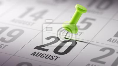 20.srpna napsané na kalendáři vám připomene významnou JMENOVÁNÍ