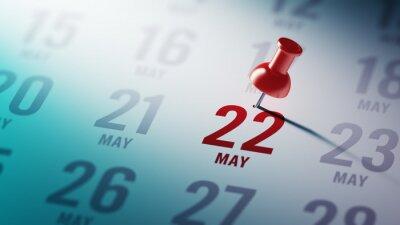 22. května napsané na kalendáři vám připomene významnou appointm