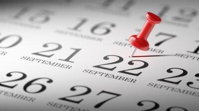 22.září napsané na kalendáři vám připomene významnou ap