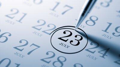 23.července napsané na kalendáři vám připomene důležité jmenovat