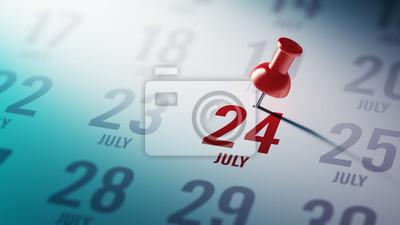 24.července napsané na kalendáři vám připomene důležité jmenovat