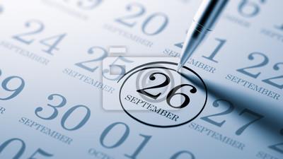 26.září napsané na kalendáři vám připomene významnou ap