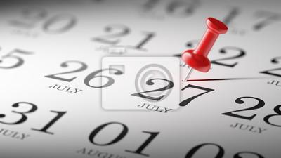 27.července napsané na kalendáři vám připomene důležité jmenovat