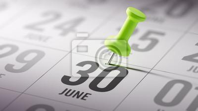 30.června napsané na kalendáři vám připomene důležité jmenovat