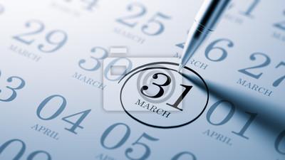 31.března napsané na kalendáři vám připomene významnou appoin
