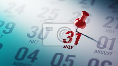 31.července napsané na kalendáři vám připomene důležité jmenovat