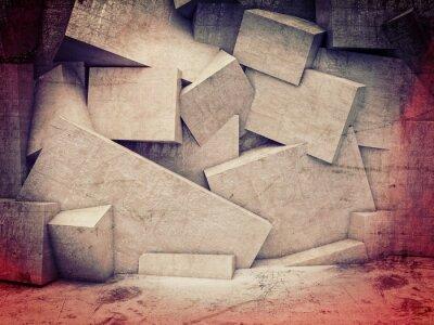 Fototapeta 3d geometrický stěna