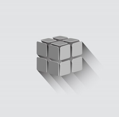 Fototapeta 3D ikona krychle