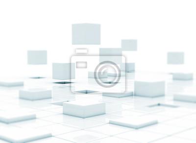 Fototapeta 3d kostky - budování podnikání