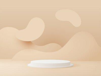 Fototapeta 3D rendered podium for your product showcase. Vector 3d illustration.