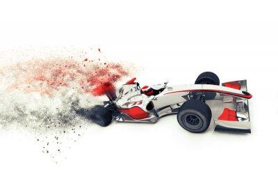 Fototapeta 3D Superfast generic závodní auto