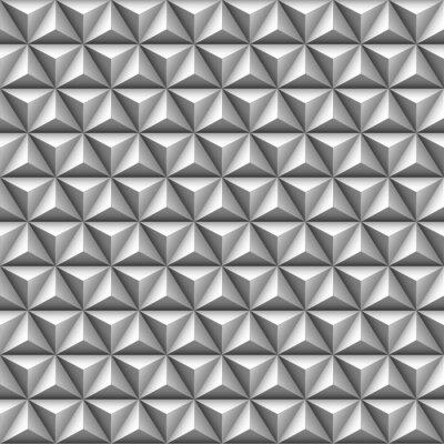 Fototapeta 3d trojúhelník bezešvé vzor