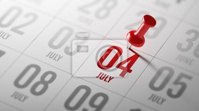 4.července napsané na kalendáři vám připomene důležité jmenovat