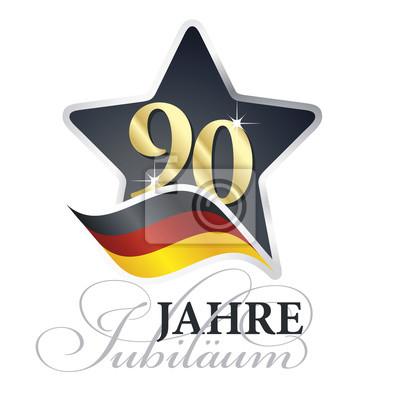 všechno nejlepší k narozeninám německy 90 let výročí (německý jazyk   90 jahre jubiläum) izolované černá  všechno nejlepší k narozeninám německy