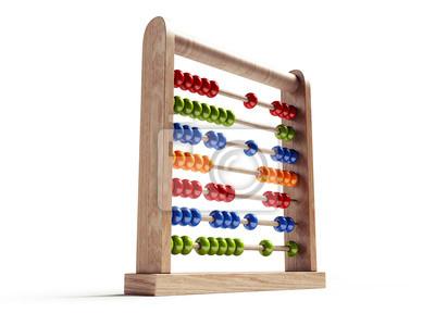 Abacus izolované s ořezovou cestou