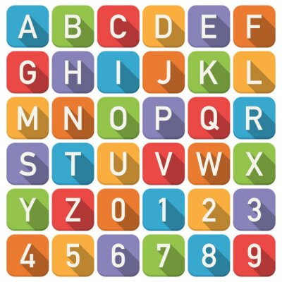 Fototapeta abeceda ikony