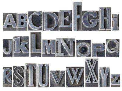 Fototapeta abeceda ve smíšené typu kovové