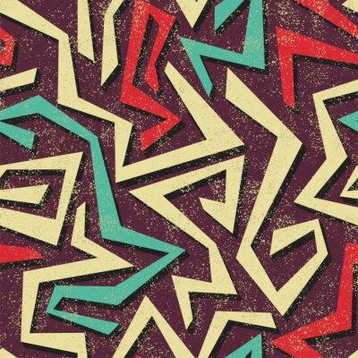 Fototapeta Absract graffiti bezešvé vzor. Vektor