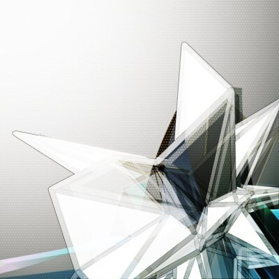 Fototapeta Abstract 3D crystal vector background