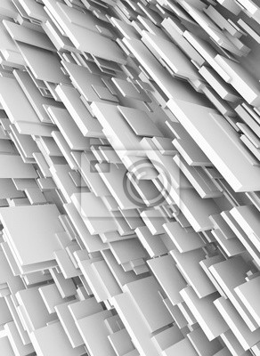 Fototapeta Abstract background of overlapping white squares