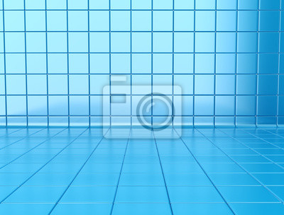 Fototapeta Abstract blue tiles