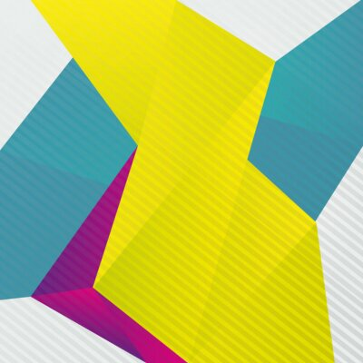Fototapeta Abstract origami