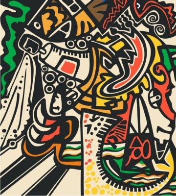 Fototapeta Abstract psychedelic pozadí