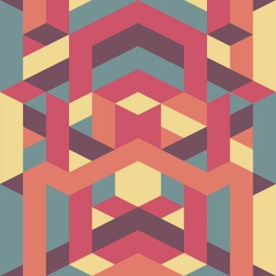 Fototapeta abstract retro geometric pattern