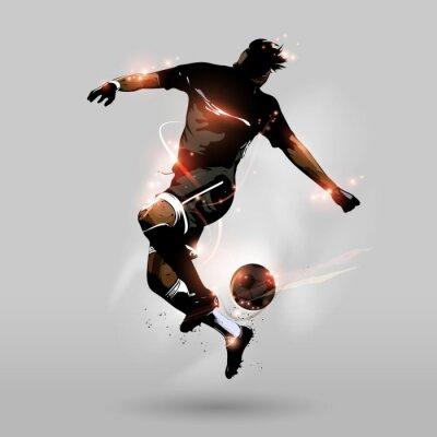 Fototapeta abstract soccer jumping touch míč