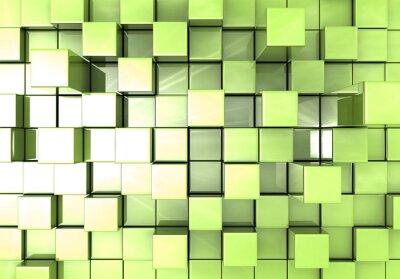 Abstract zelené kostky pozadí