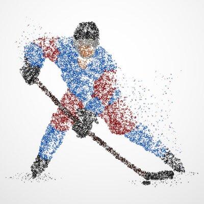 Fototapeta abstrakce, hokej, led, puk