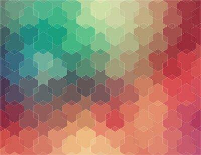 Fototapeta Abstrakt 2D geometrické barevné pozadí