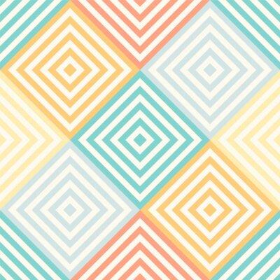 Fototapeta Abstrakt bezešvé geometrický vzor - kosočtverec