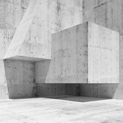 Fototapeta Abstrakt bílá beton interiér fragment 3 d