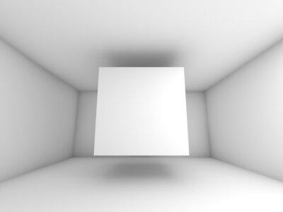 Fototapeta Abstrakt bílá interiér pokoje s létajícím kostkou