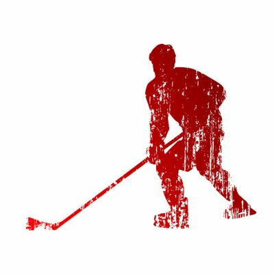 Fototapeta Abstrakt hokejista