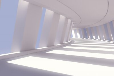 Fototapeta Abstrakt interiér chodby. 3d render ilustrační