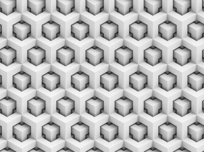 Fototapeta Abstrakt polygonální 3D bezešvé vzor - geometrické box struktura pozadí